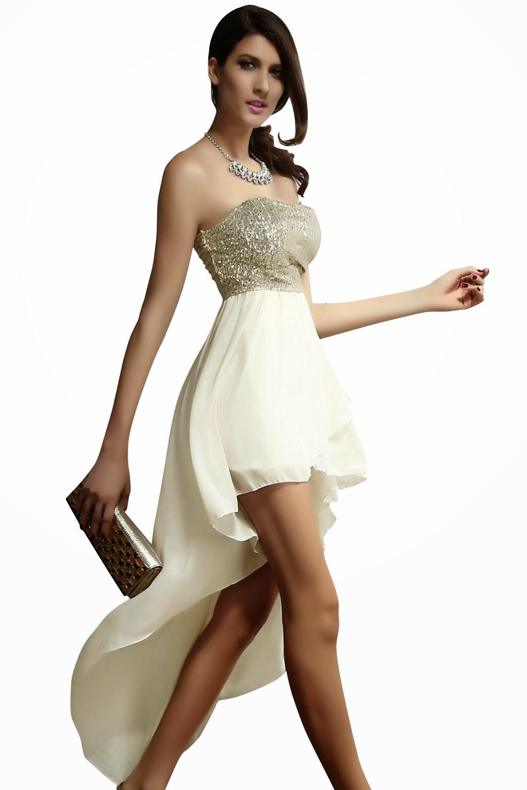 Das glamouröses Kleid